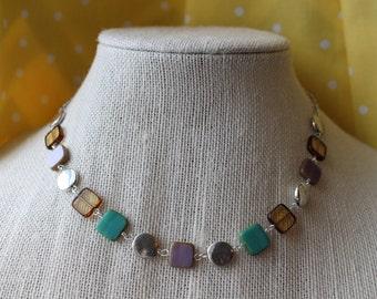Pastel Squares Necklace