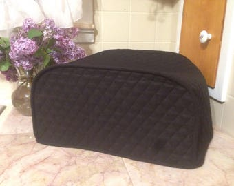 Black Toaster Oven Covers Kitchen Decor Quilted Fabric Small Appliance Covers Made To Order