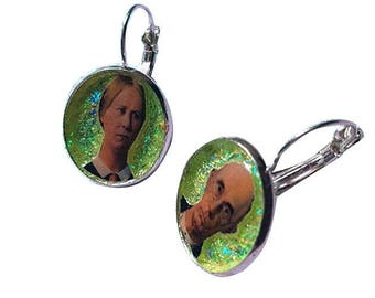 AMERICAN GOTHIC glitter earring