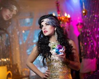 Great Gatsby Headband, Hen Party 1920s Headpiece, 1920s Wedding Hair Piece, 1920s Headband Art Deco Hair Accessories, Roaring 20's
