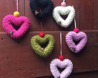 Knitted Heart - Hand Knit 10cm