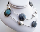 Labradorite and Silver Di...