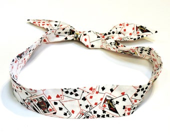 Personal Neck Cooler Scarf, Stay Cool Tie Bandana Wrap, Heat Relief Cooling Band, Reusable, Playing Cards, Poker, Black Jack iycbrand
