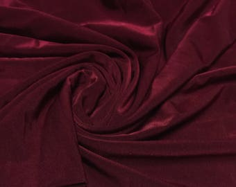Polyester ITY Fabric 1 Yard Burgundy Wine