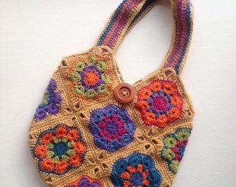 Crochet Womans African Flower Handbag <3