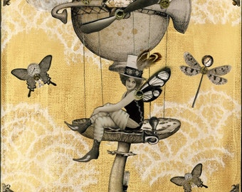 Mushroom Fairy Steampunk Print