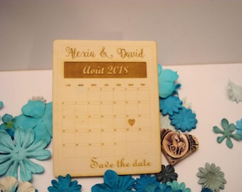 Lot 10 card postcard 02065 wooden wedding invitation