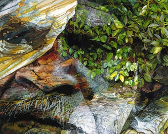 Grief for a Sacred Place, The Land Remembers - Ltd Ed. Giclée Art Print on Canvas by Jane Nicol