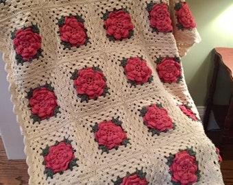 Rose Granny Afghan