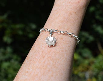 Silver Texel sheep charm bracelet, Texel sheep, Texels, Sheep bracelet, Sheep charm, Sheep gift, Sheep present, Sheep jewellery, Sheep,charm