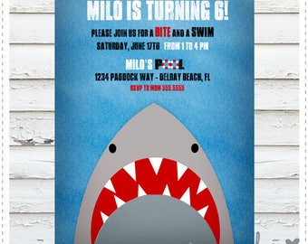 Shark Birthday Invitation