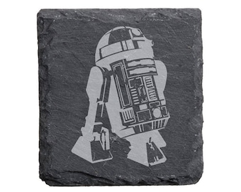 Star War R2D2 Engraved Slate Coasters