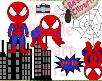 DIGITAL SCRAPBOOKING CLIPART - Spiderman