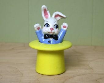 Vintage Bunny Rabbit in a Hat