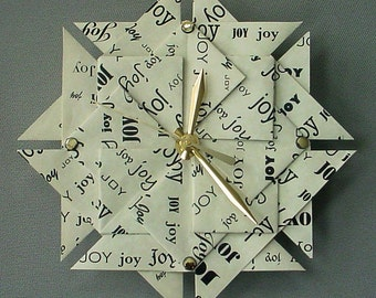 1st Wedding Anniversary Gift for Her - JOY Clock - Large - Black Type