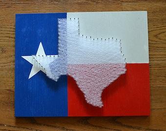 Texas Flag String Art - Lone Star State Flag Nail Art - God Bless Texas