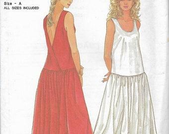 Simplicity 9665 Misses Lapped Back Dropped Waist Dress Pattern, Size 10-20, UNCUT