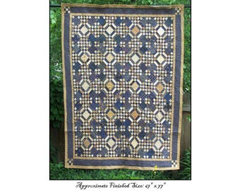 Blue Moon Of Kentucky Quilt Pattern PDF Reproduction Traditional Style QRD371