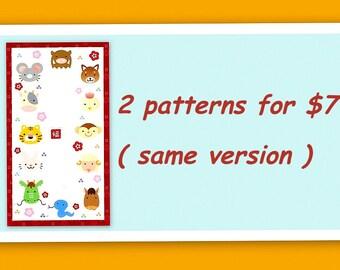 Amigurumi Patterns special - 2 Zodiac Animal crochet patterns for 7 US dollars