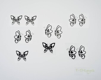 Lot collection patterns, butterflies, for textile theme
