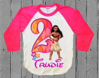 Moana Birthday Shirt - Moana Shirt - Tank top Available