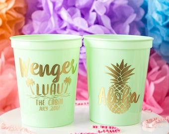 Luau Bachelorette, Luau Birthday, Luau Party, Luau Bridal Shower, Beach Bachelorette, Custom Cup, Stadium Cup, Hawaiian Luau, Luau Wedding