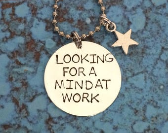Hamilton looking for a mind at work necklace