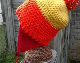 Jayne Cobb Hat, Firefly Jayne Hat, Earflap Beanie, Crochet Hat, Cunning Hat