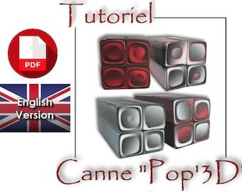 Tutorial / PDF English : Pop 3D effect, Cane