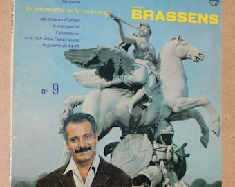 George Brassens. 25 CM 76563 LP. In good condition. The trumpets of Fame