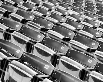 Canvas Print, Wrigley Field, Baseball Pictures, Abstract, Black And White, Seats, Canvas Print, Fine art photography, photos Chicago Stadium