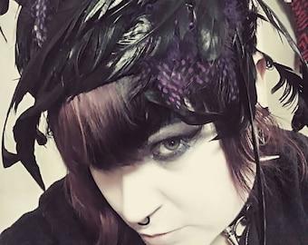 Vaudeville Feathered Hat