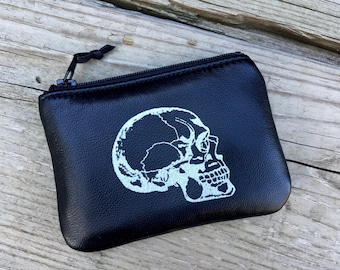 Skull Pouch, Leather Skull Pouch, Leather Pouch