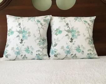 16x16 Pillow Cover, Floral Pillow Cover, Decorative Pillow