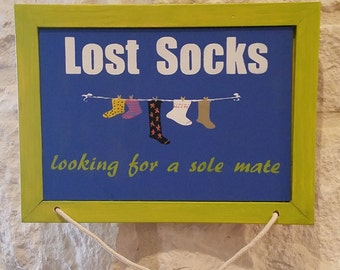 Laundry Room Sign - Lost Socks