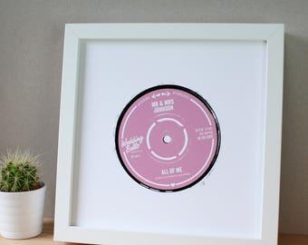 Personalised Wedding Record Label Print