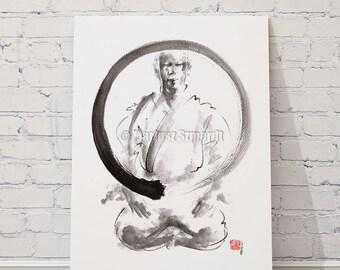 Enso zen art meditation martial arts paintings karate ink artwork.