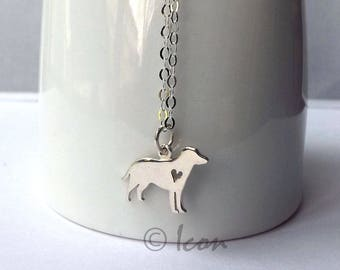 Dog Necklace Tiny Silver Dog Pendant, Small Animal Charm, Sterling Silver Dog Lovers gift, Jewelry Gift, pet gift for her, pet lover gift