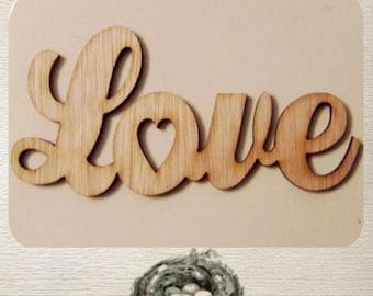Love Wood Cut Out - Laser Cut