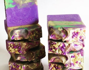 Botanical Fusion Lavender Chamomile Artisan Soap (Relaxing Soap, Calming Soap, Handmade Soap, Relax Soap)