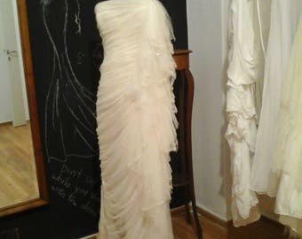 Wedding dress from ivoire tulle