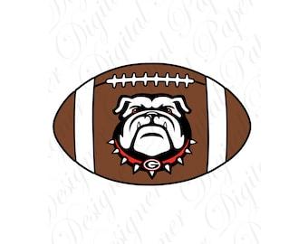 Georgia SVG and Studio 3 Cut File Cutouts Files Logo Stencil for Silhouette Cricut Decals SVGS Decal Team Sports Bulldog Bulldogs Football