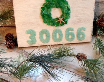 Zip Code Art, Custom Zip Code Signs, Custom Signs, Christmas Signs, Coastal Art. Custom Christmas Signs