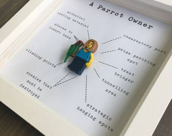 Bird Owner Lego Minifigure Frame