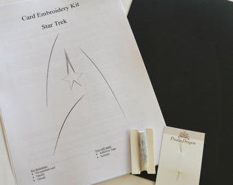 Star Trek inspired Card Embroidery Kit