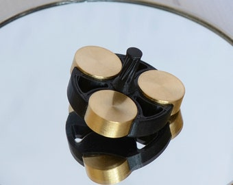 Spinning Top Desktop Toy Brass Spin Top Fidget Metal Spinning Top Edc 3D Printed Stress Toy Pocket Fathers Day Gift Spin Top Everyday carry