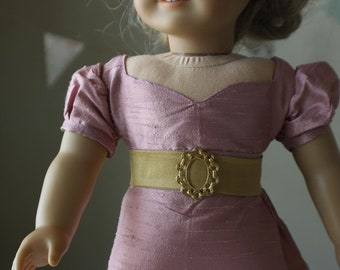 "Silk Regency Gown for 18"" American Girl Dolls"
