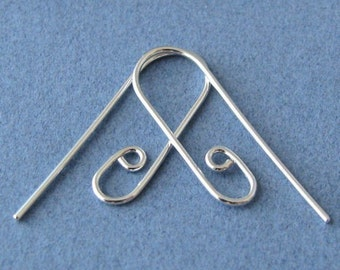 Interchangeable Earring Wires, Handmade Earwires, Sterling Silver Slide n Go Ear Wire Findings - Choice of Finish