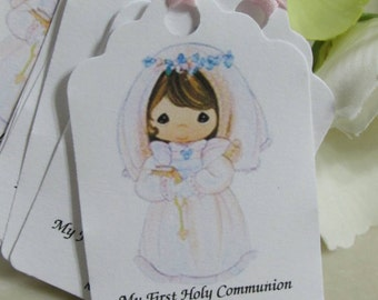 Personalized Favor Tags 2.5Lx1.8w'', First Communion tags, Thank You tags, Favor tags, Gift tags,