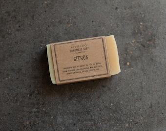 Handcrafted Natural Citrus Bar Soap